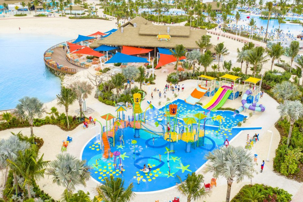 Perfect Day Coco Cay Splashaway Park Aerial