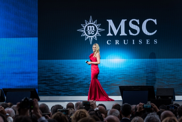 Michelle Hunziker hosting MSC Seaview Christening in June 2018_Ph. Ivan Sarfatti