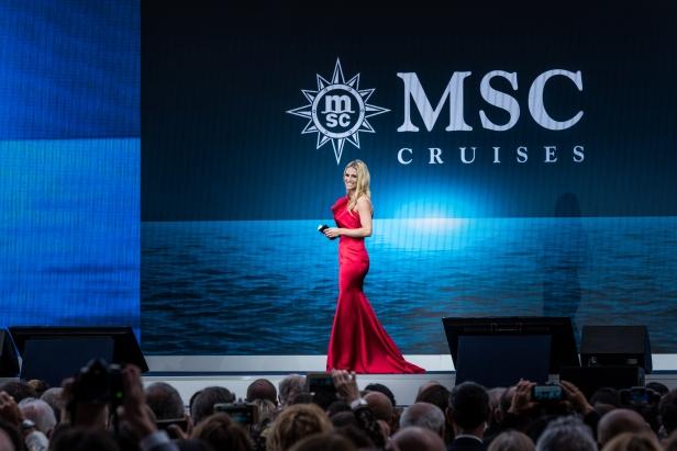 Michelle Hunziker hosting MSC Seaview Christening in June 2018_Ph. Ivan Sarfatti